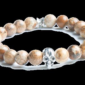 Gemini Armband - Skull Beige -0