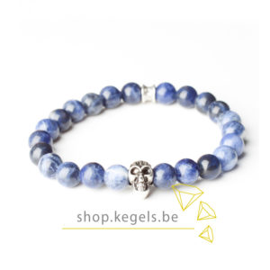 Gemini Armband - Skull Blue -0
